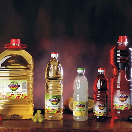 Vinegars in Plastic Bottles