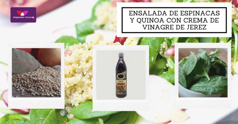 Ensalada de espinacas y quinoa con crema de vinagre (1)
