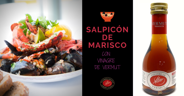 Salpicón de marisco con vinagre de vermut